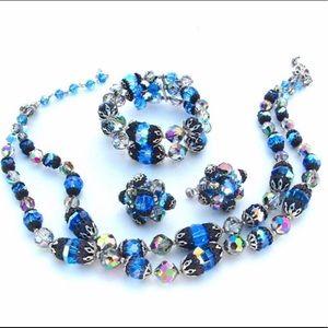 VENDOME Glamour Crystal Necklace Bracelet Designer